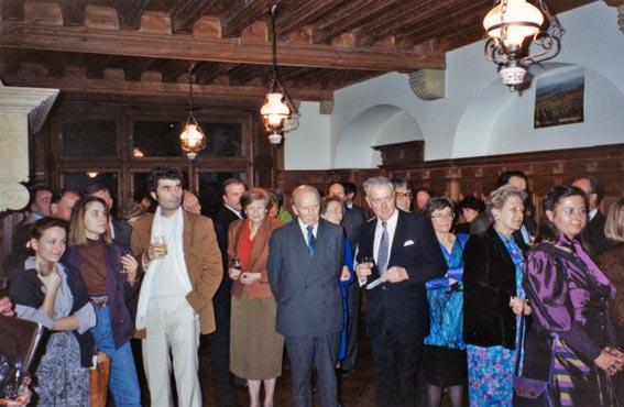 Festivités liées au Centenaire de la Fondation La Source. L'intérieur du manoir des de Gasparin à Valeyres-sous-Rance.