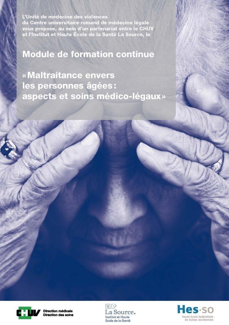 Module Maltraitance personnes âgées: aspects et soins médico-légaux