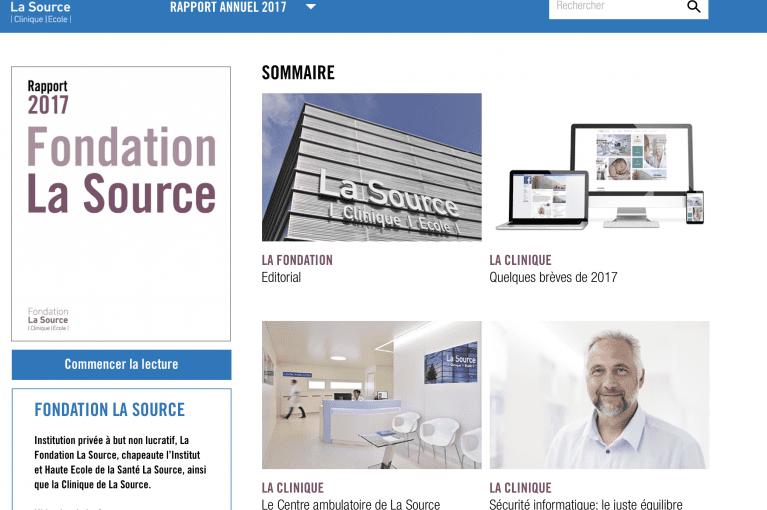 Le rapport annuel de la Fondation La Source 2017 est en ligne!