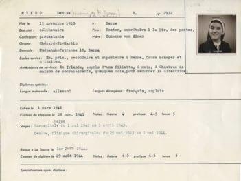 Visite de Mlle Denise Evard (volée 1941)-1