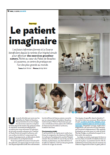 Migros Magazine en reportage à La Source