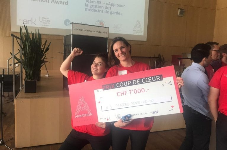La Source gagnante au Hacking Health Arkathon à Sion!